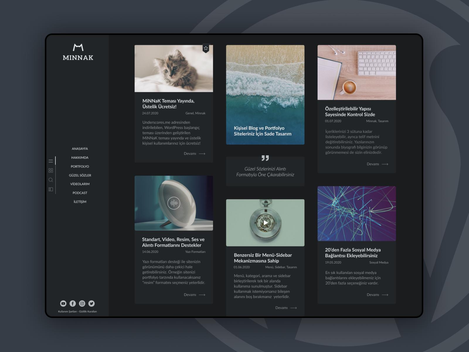 MiNNaK Wordpress Teması